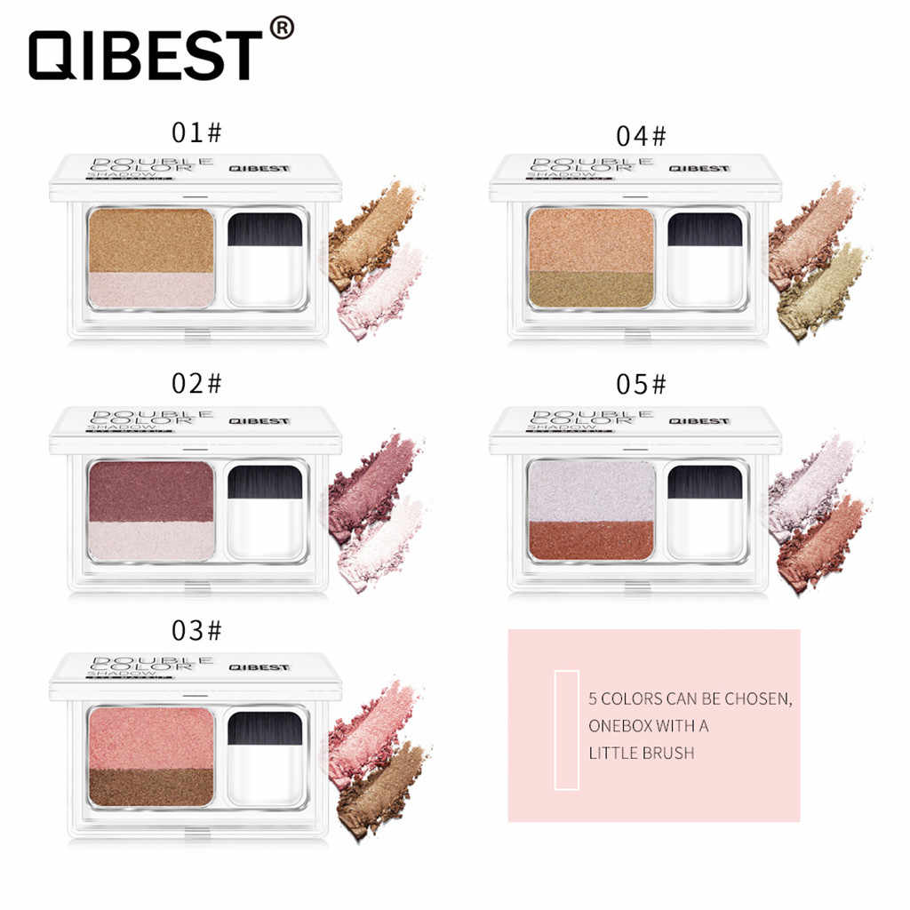 Double Color Women's Fashion Lazy Shadow Eyeshadow Shimmer Makeup Palette