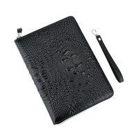 2018 Business Large Clutch Bag MoneyClip Wallet Men's Purses Genuine Leather Wallets Man Wristlet Handbag Long Male Purse