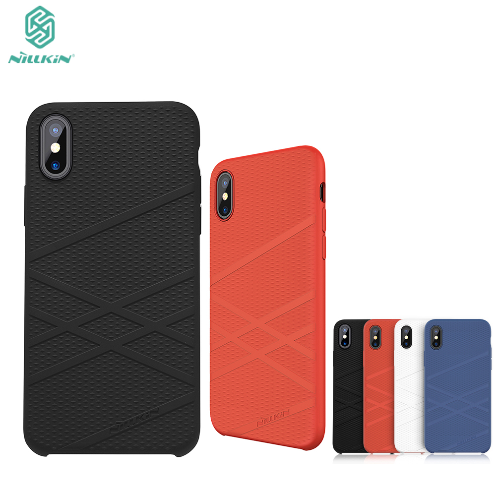 Original NILLKIN FLEX Liquid Silicone Case For Apple iphone X iphoneX 5.8 inch Soft Back cover case bag bumper for iphone 10 ten