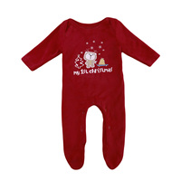 Xmas Romper Jumpsuit Clothes Outfit Christmas Top Baby Boy Girl Newborn Infant Playsuit UK
