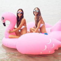 190cm 75inch Giant Luxury Pink Inflatable Flamingo Pool Float Ride On Swimming Broad Lounger For Kids Adults Summer Party Toys