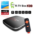 4 ГБ RAM 32 ГБ ROM Android 6.0 TV Box RK3399 6-ядерный R-TV Box K99 Потоковое Смарт Media Player AC Wi-Fi BT4.0 4 К TVbox ПРОТИВ Mi X92