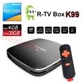 4 GB RAM 32 GB ROM Android 6.0 TV Box RK3399 6-Core R-TV Caja k99 streaming reproductor multimedia inteligente ac wifi bt4.0 4 k tvbox vs mi X92