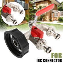 Adaptador IBC de 1000 litros, Conector de tanque de agua de jardín, adaptador de tanque de agua de lluvia, conectores de agua para jardín doméstico