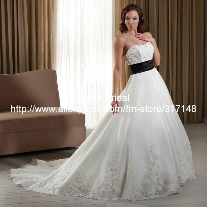 Black and white princess dress