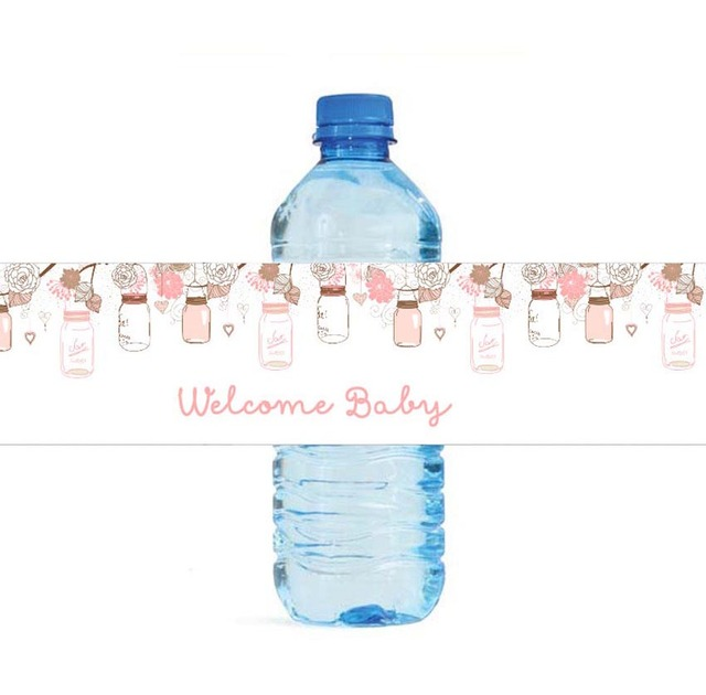 Lucky Bottles Personalized Water Bottle Labels Baby Shower