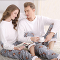 SSH042 Зима Фланелевые Пары Соответствующие Пижамы Взрослых Полный Рукав Пижамы Для Женщин Мужчины Полная Длина Пижамы Набор Теплый Пижамы