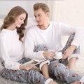 SSH042 Winter Flannel Couples Matching Pajamas Adult Full Sleeve Pyjamas For Women Men Full Length Pajama Set Warm Sleepwear