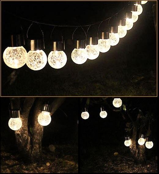 Led solaire lanterne ampoule lampe arbre de noël bocal en verre ...
