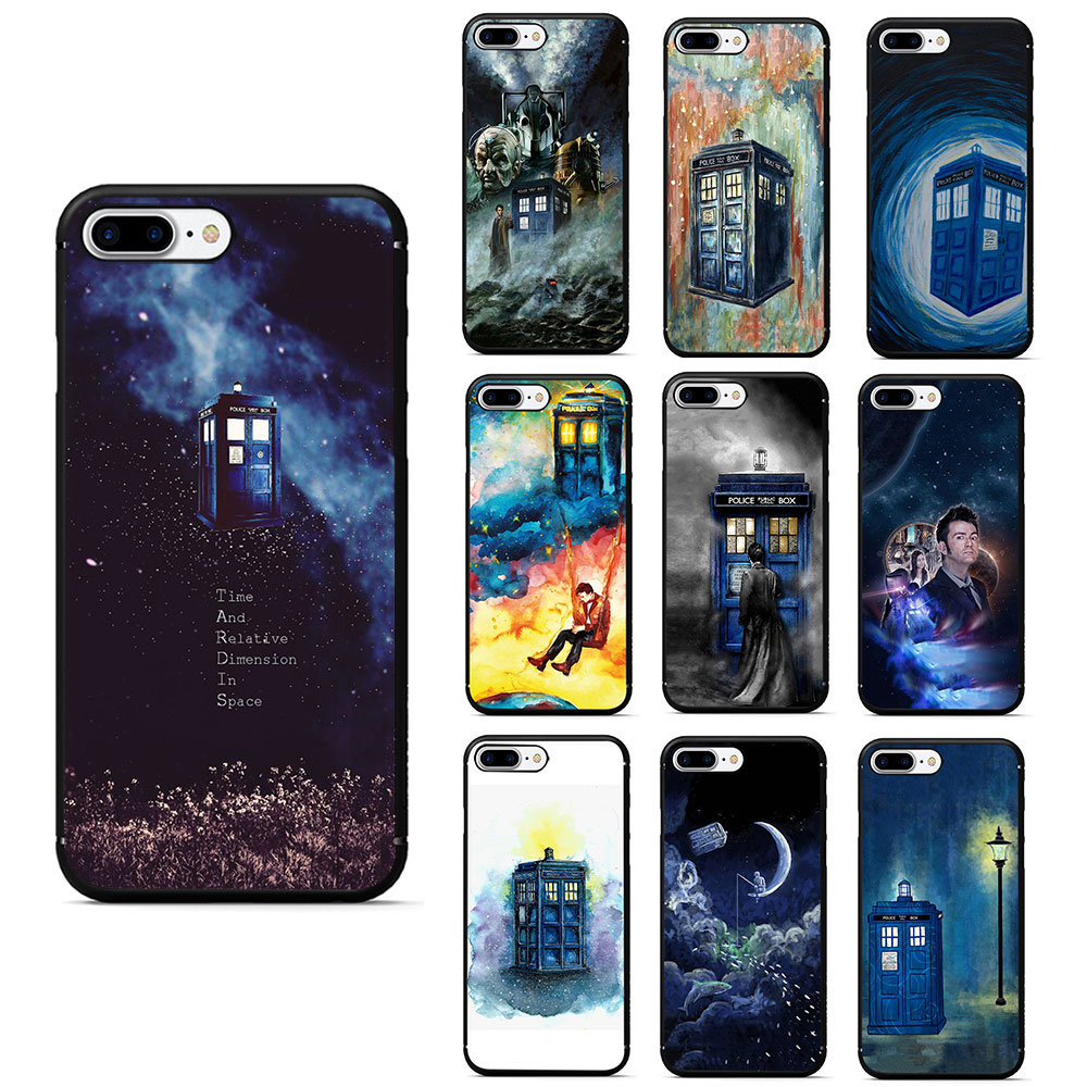 Lovely Arsmundi Doctor Who Police Box Phone Cases For Iphone 4s 5c 5s 6s 7 8 Plus X For Samsung S8 9 Note Case Soft Tpu Rubber Silicone Special Summer Sale Fitted Cases