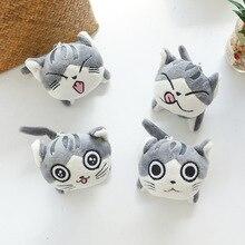 4 disegni 9 centimetri Gatto Peluche Farcito bambole giocattoli Anello Della Catena Chiave Della Peluche del Gatto Bambola Regalo per le Ragazze