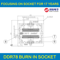 DDR3-0.8 78pin Burn in socket Bal Pin Pitch 0.8mm DDR DIMM DRAM voor DDR fabrikant test DDR NAND chips