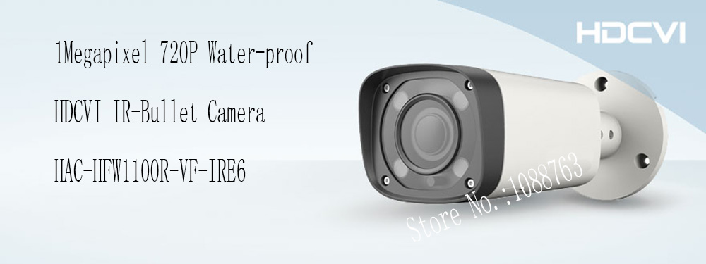 Free Shipping DAHUA 1MP 720P Water-proof HDCVI IR-Bullet Camera IP67 without Logo HAC-HFW1100R-VF-IRE6 free shipping dahua cctv outdoor camera 2mp hdcvi ir bullet camera ip67 without logo hac hfw1220r vf ire6