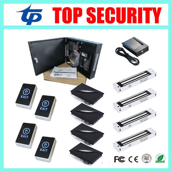 C3/400 access control system TCP/IP door access control panel access control board with 280KG 600LBS magnetic lock 125KHZ reader weigand reader door access control without software 125khz rfid card metal access control reader with 180 280kg magnetic lock