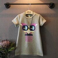 Children S Garment 2016 Summer Wear New Product Children Girl Fashion Leisure Time Funny Cartoon Pattern
