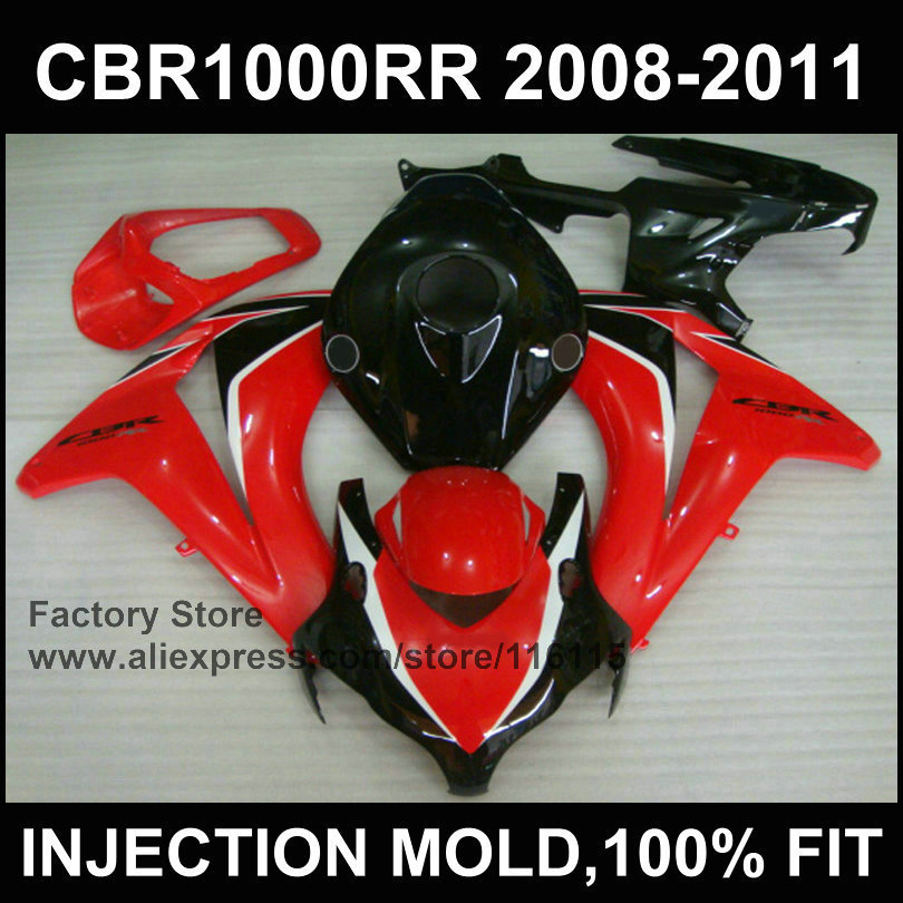 Red fairing parts for HONDA CBR 1000 RR  fairing  2008 2009 2010 2011 cbr1000 rr Injection molding bodyworks arashi motorcycle radiator grille protective cover grill guard protector for 2008 2009 2010 2011 honda cbr1000rr cbr 1000 rr
