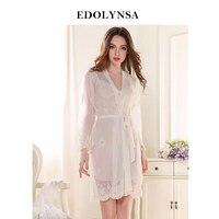 New Arrivals Sexy Nightgown Robes Set Bathrobe Sets Lace Nightdress Set Bridesmaid Robes Peignoir Wedding Robe Sets #H133