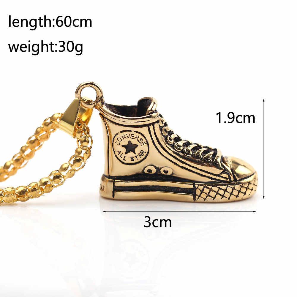 Hip-hop Gymschoenen Schoen Hanger Lange Ketting Goud/Zilveren Sieraden Voor Vrouwen Mannen Trui Kraag Kettingen Gift Voor Wandelaars Mode