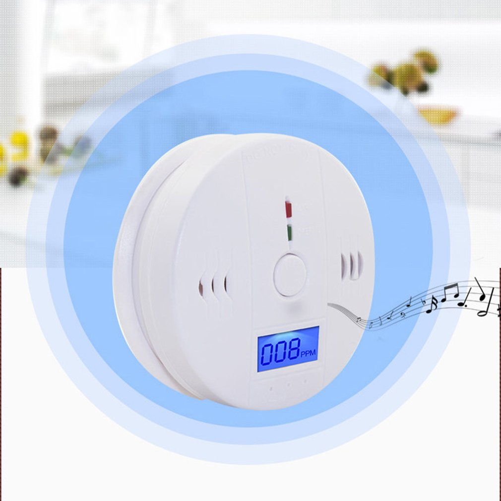 LCD CO Carbon Monoxide Smoke Detector Poisoning Gas Warning Sensor Alarm Gas Alarm For Factory Safety
