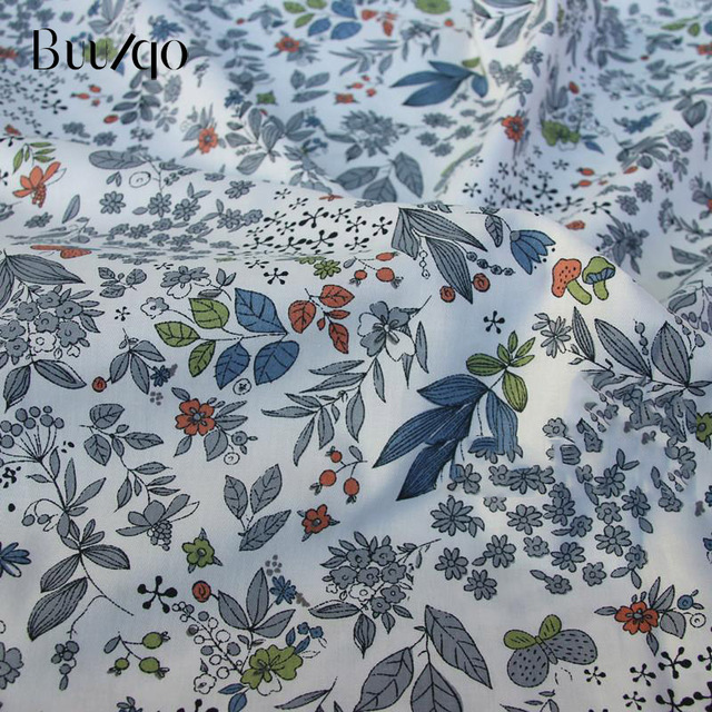 buulqo Printed Kids Cotton fabric baby quilting cotton twill fabric by meter DIY sewing craft cotton material 4