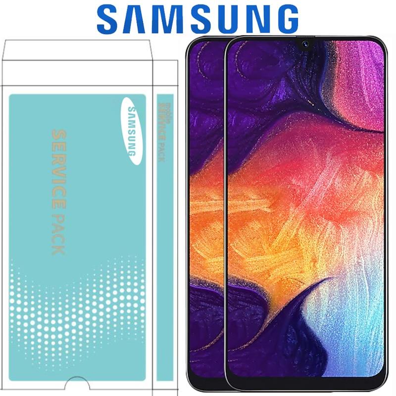 6 4 Original Super AMOLED For Samsung galaxy A50 2019 A505F DS A505F A505FD A505A Touch