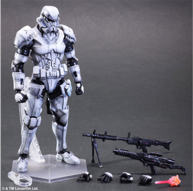 ФОТО Brand New Star Wars The Force Awakens Paly Arts Kai Stormtrooper 26cm PVC Action Figure Collection Toy Doll