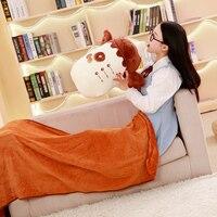 Multifunction Bottle Pillow + Blanket Stuffed Cartoon Baby Dolls Kawaii Cartoon Kids Present Toys Children Baby Birthday Gift