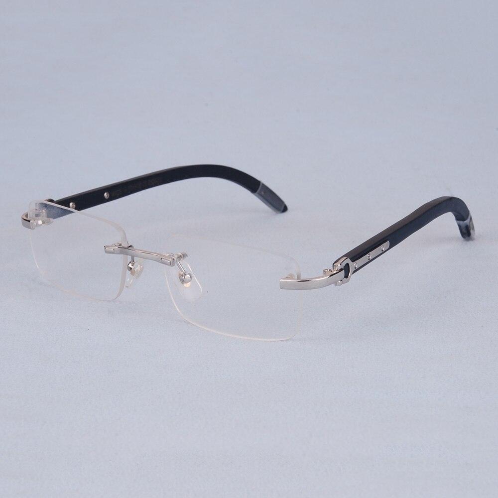 100% Waar Vazrobe Brilmontuur Mannen Houten Brillen Man Prescription Bril Goud Luxe Merk Hoge Kwaliteit Randloze Lenzenvloeistof Hout Been