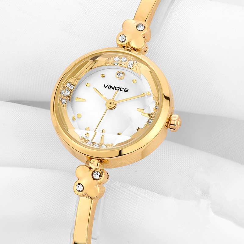 Fashion Women Rose Gold Rhinestone Wrist Watches Luxury Casual Female Quartz Watch Steel Luxury Ladies Watch Relogio Feminino in Women 39 s Watches from Watches