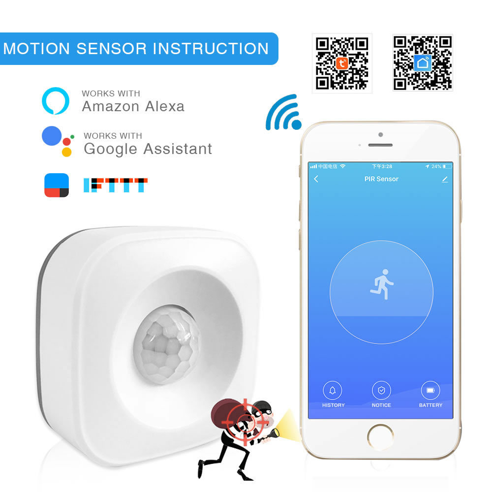 WiFi Infrared Sensor Smart Life APP Intelligent Control Tuya Graffiti Suction Top