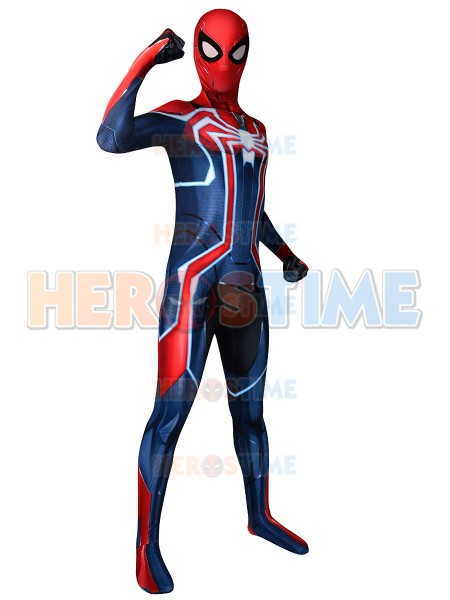Newest Spiderman PS4 Velocity Costume 3D Printing Fullbody Spider-man Cosplay Halloween Zentai Suit For Adult/Kids /Custom Made