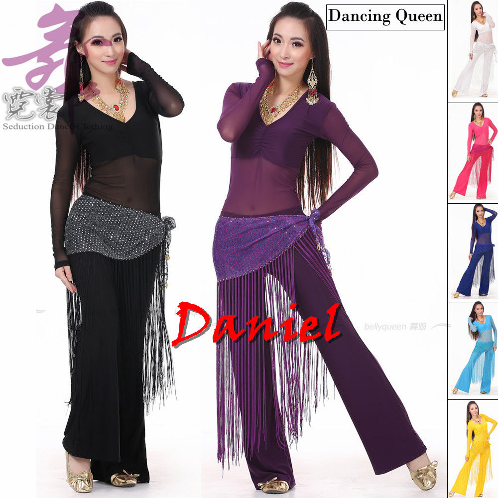 Picture of 2016 Belly Dance Costume Set Professional Topamppantsamphip Scarf Indian Dress Lady Belly Dancing Dance Wear Practice\/Performance