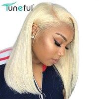 613 парик Боб кружева спереди парики могут быть окрашены в любой цвет мелодичный 100% бразильский Реми цветные glueless натуральные волосы боб пар