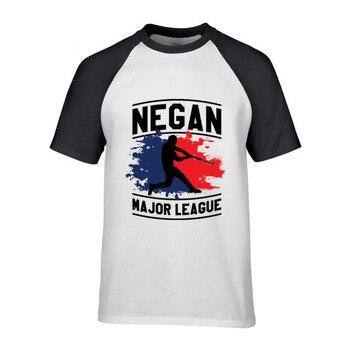 Cool Guys Custom Negan Major League T-Shirt Men Super Stretch Preshrunk Cotton Printed 80s Movie T Shirts 3XL Size