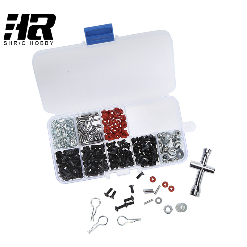 RC car 1/10 HSP 94123 tools Special Repair Tool and Screws Box Set for  include 270 Pcs Hexagon Wrench 147 pcs portable professional watch repair tool kit set solid hammer spring bar remover watchmaker tools watch adjustment
