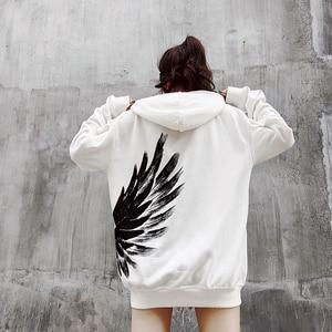 Image 5 - New 2018 Street wear Hoodies print Sweatshirt Mens Casual Brand Clothing Phoenix wings hip hop hoodies  tops Sweatshirts