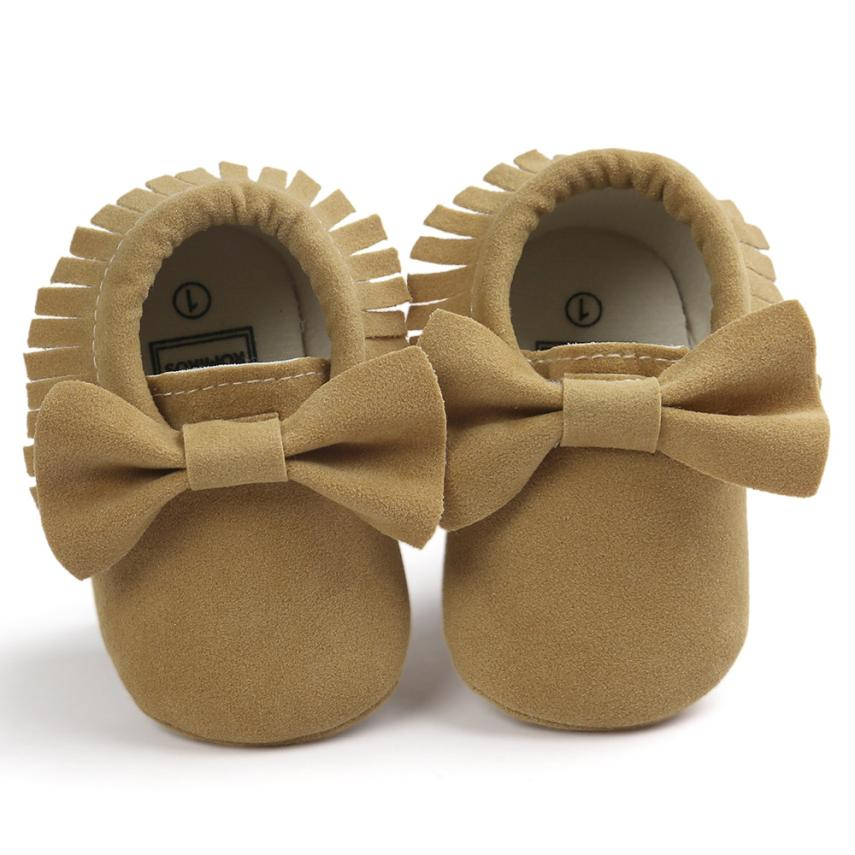 ROMIRUS Brand 9 Colors baby girl shoes kids first walkers Soft Tassel Girls Bow Soft sole Infants Girl shoes best love
