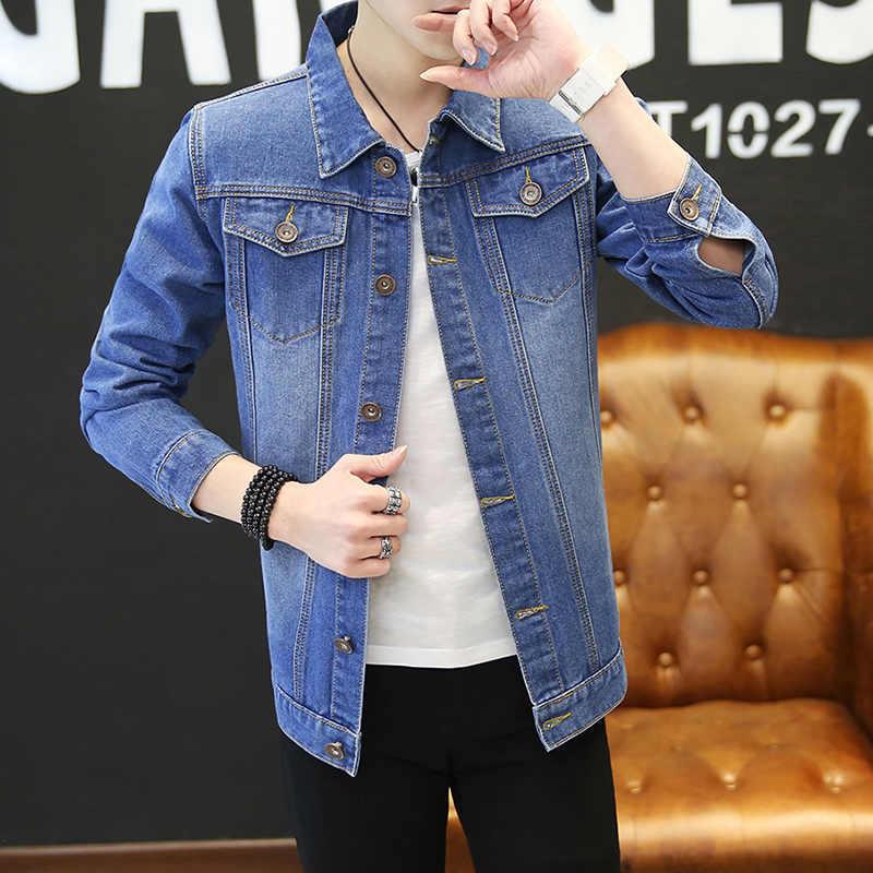 新ファッションカウボーイジャケット男性のデニムジャケット 2018 春カジュアルコート紳士服プラスサイズ上着 S-3XL 送料無料ホット