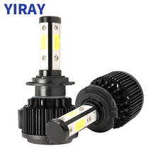 YIRAY 2PCS LED H4 H7 Headlight Bulbs Canbus 8000LM 100W COB Chip 9005 9006 H13 H11 9012 fog Light Headlamp Car Lights