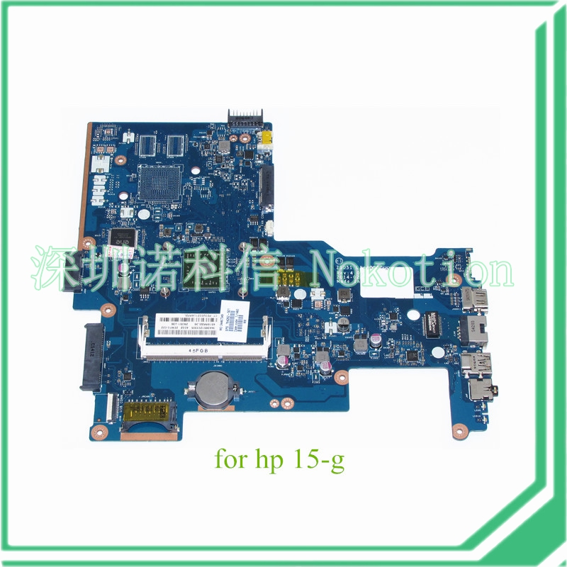 NOKOTION ZS051 LA-A996P Rev 1.0 764262-501 764262-001 motherboard for HP 15-G Series laptop main board DDR3 815248 501 main board for hp 15 ac 15 ac505tu sr29h laptop motherboard abq52 la c811p uma celeron n3050 cpu 1 6 ghz ddr3