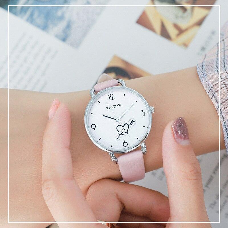 Women Watches 2019 Luxury Brand Casual Quartz Ladies Watch Heart Leather Strap Clock Dress Watch Women Students Relogio Feminino