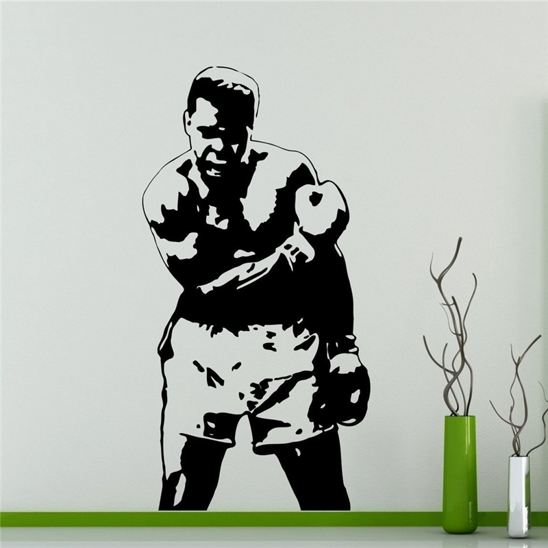 Free shipping Muhammad Ali Wall Decal Boxer Vinyl Sticker ...