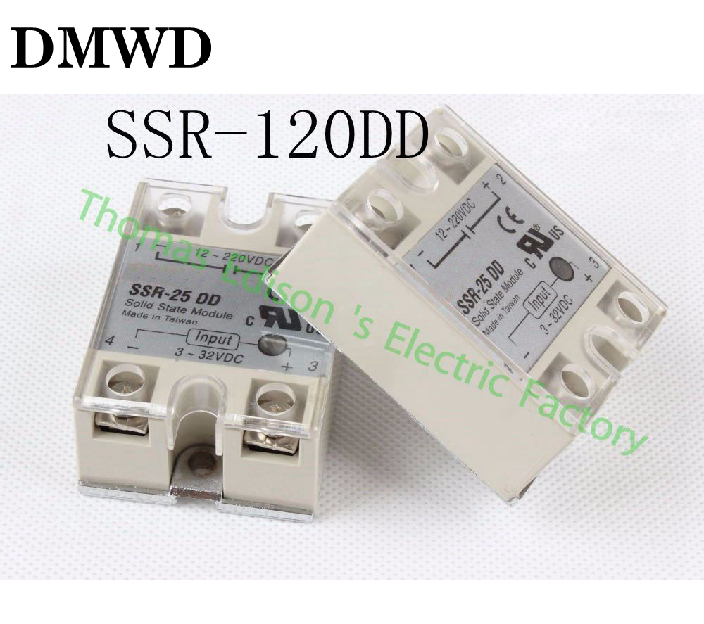 1pcs  solid state relay SSR-120DD 25A 3-32 DC TO 5-60 DC SSR 120DD relay solid state1pcs  solid state relay SSR-120DD 25A 3-32 DC TO 5-60 DC SSR 120DD relay solid state