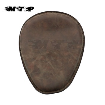 New Brown Retro Solo Driver Seat Saddle Seat Pad For Bobber Custom Chopper Cafe Racer Harley Sportster 883 1200 XL Motorcycle