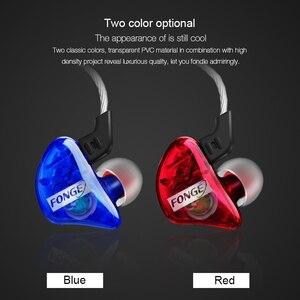 Image 2 - 3.5 millimetri originale Fonge T01 Trasparente In Ear Auricolare Subwoofer Stereo Bass Auricolari del Trasduttore Auricolare Con Il Mic per il iPhone Xiaomi