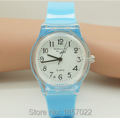New Gift For Student Colourful Jelly Wristwatch High Quality Transparent Shell Women Casual Quartz Watch Japan Movement Watch