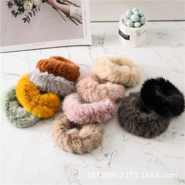 Girls pure color hair adorn New cross hair lady  Fashion Rope headdress Flower Rubber Bands Small Adorn Article--A bag of ten
