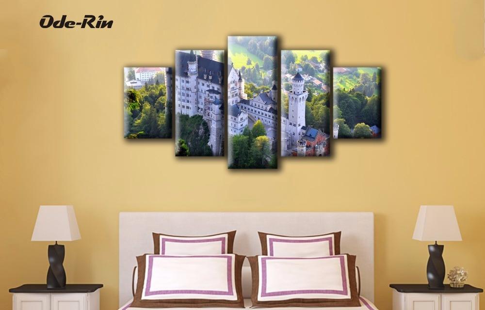 ᐂode Rin Toile Peinture Decorative No Frame Wall Art 5 Piece Toile