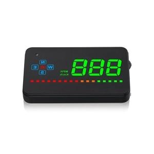 Image 5 - 3.5 inch Car Head Up Display Car Hud Digital GPS Speedometer Overspeed Alarm Auto Windshield Projector Car Electronics