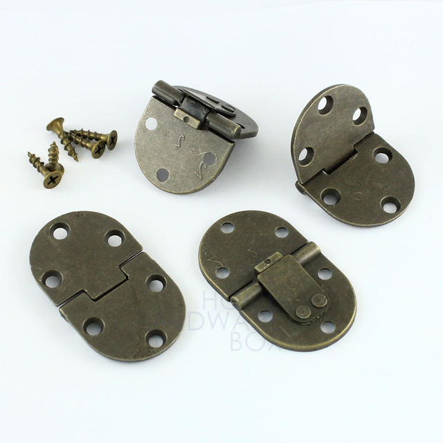 4 Pcs Flap Hinge Folding Table Extension Flush Mount Bronze Self Lock 90 Degrees